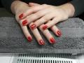 Gel nagels met kerst nail-art