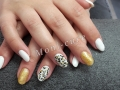 Gel nagels panter print